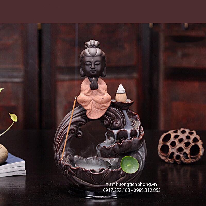 Thác Khói Phật Tọa Sen Hồng